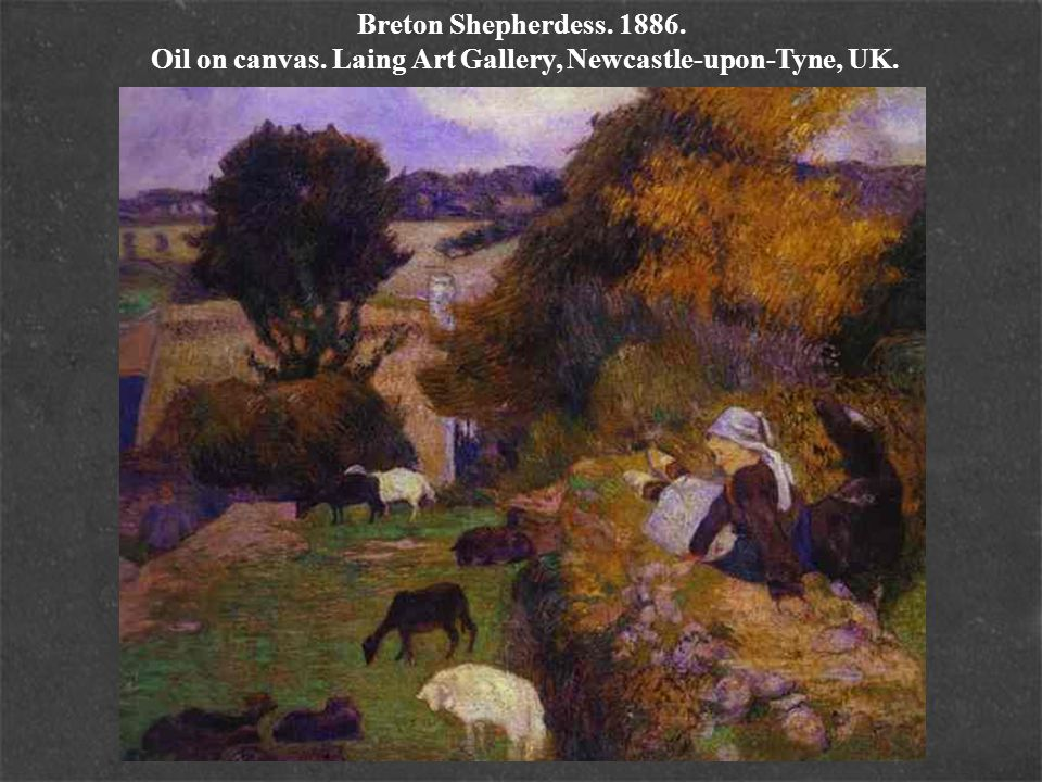 Breton Shepherdess. 1886. Oil on canvas. Laing Art Gallery, Newcastle-upon-Tyne, UK.