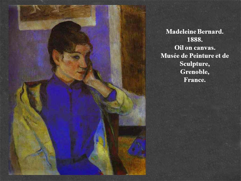 Madeleine Bernard. 1888. Oil on canvas. Musée de Peinture et de Sculpture, Grenoble, France.