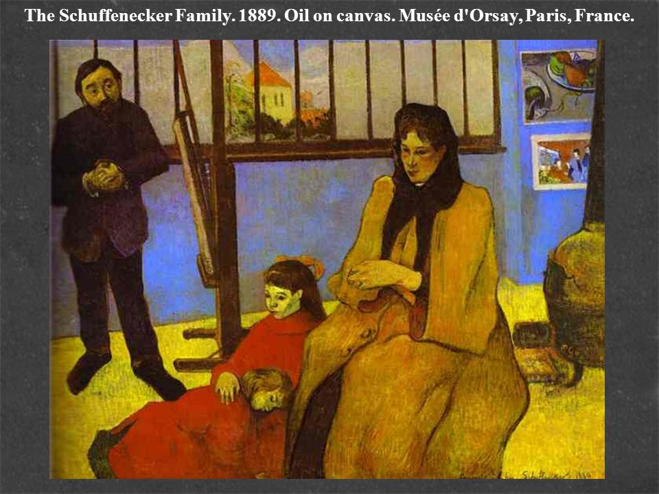 The Schuffenecker Family. 1889. Oil on canvas. Musée d Orsay, Paris, France.