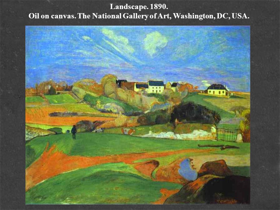Landscape. 1890. Oil on canvas. The National Gallery of Art, Washington, DC, USA.
