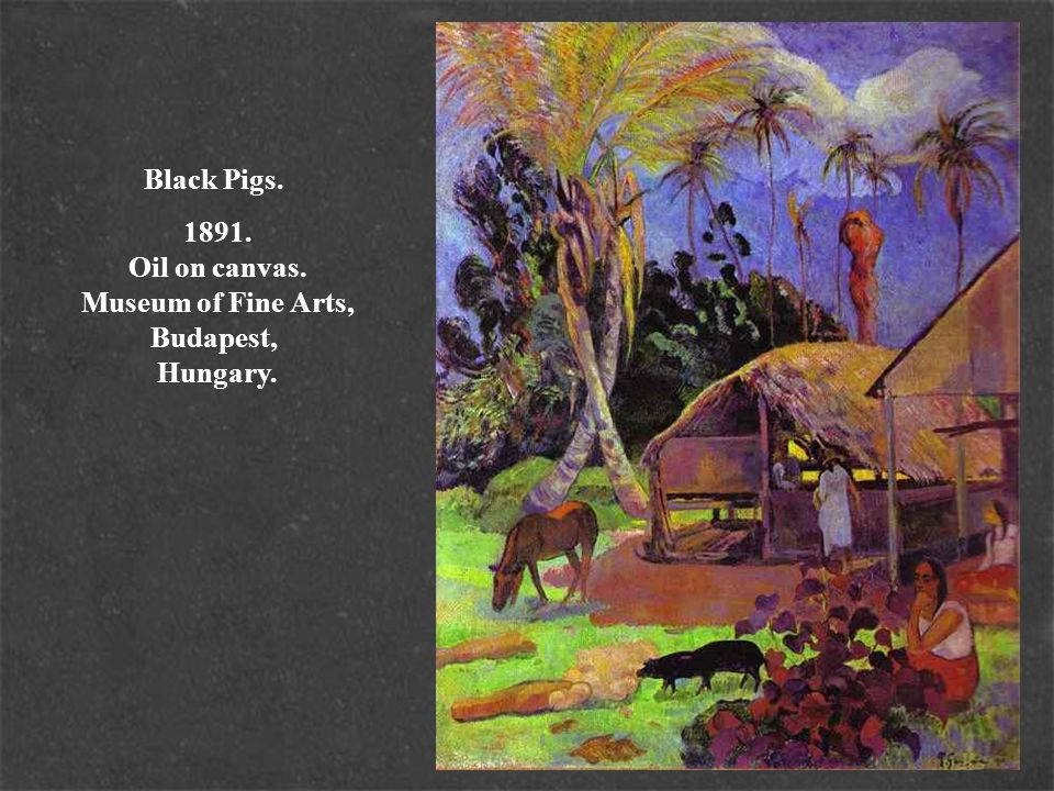 Black Pigs. 1891. Oil on canvas. Museum of Fine Arts, Budapest, Hungary.