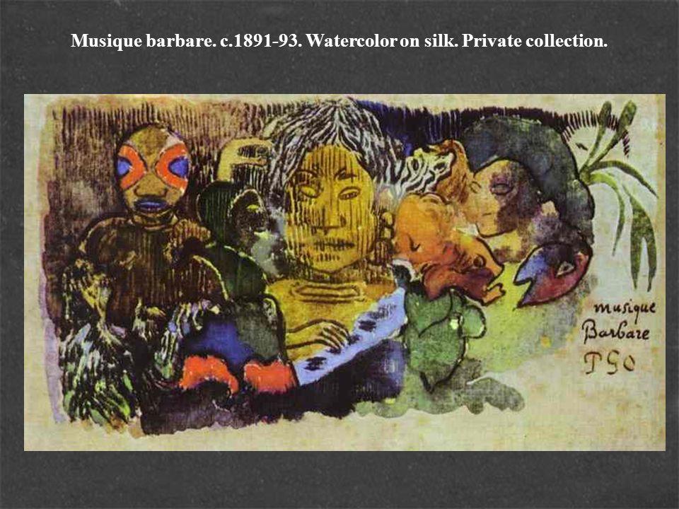 Musique barbare. c.1891-93. Watercolor on silk. Private collection.