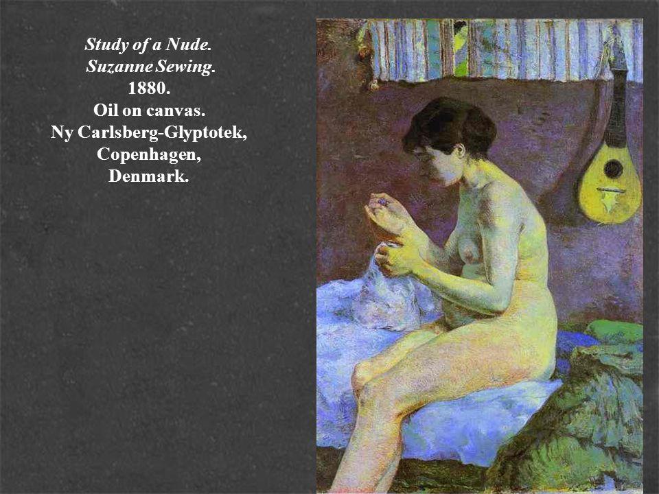 Study of a Nude. Suzanne Sewing. 1880. Oil on canvas. Ny Carlsberg-Glyptotek, Copenhagen, Denmark.