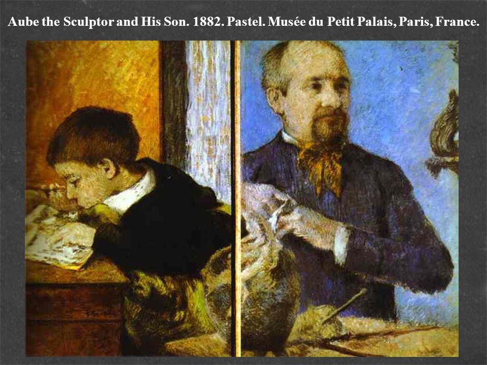 Aube the Sculptor and His Son. 1882. Pastel. Musée du Petit Palais, Paris, France.