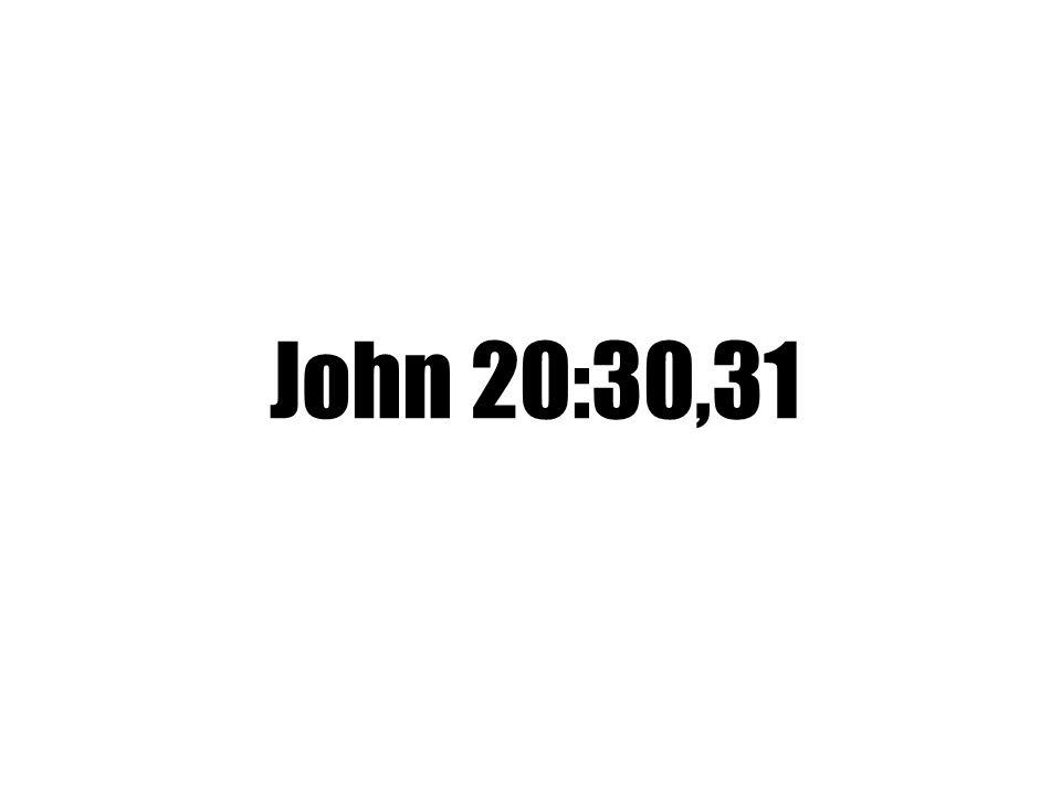 John 20:30,31