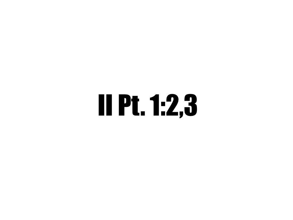 II Pt. 1:2,3