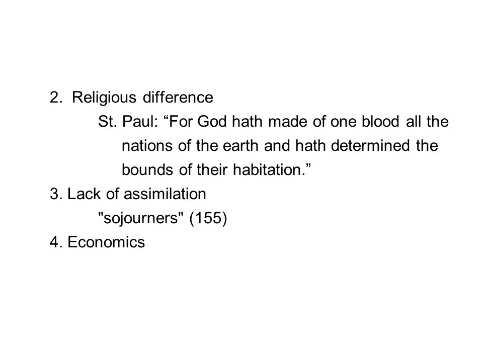 2. Religious difference St.