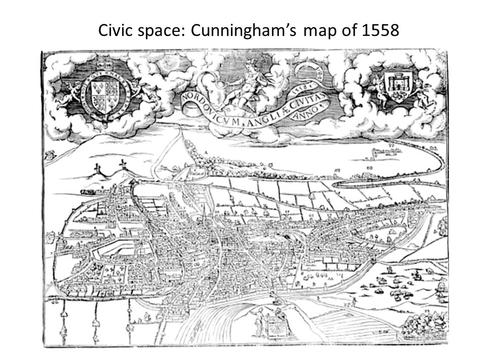 Civic space: Cunningham's map of 1558
