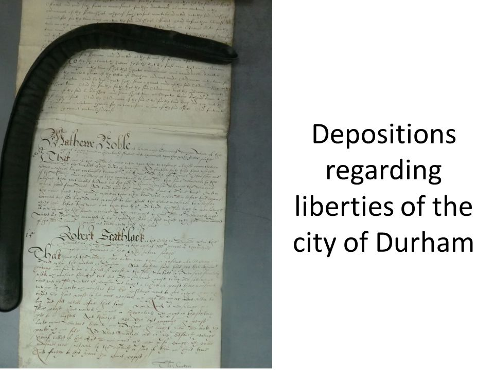 Depositions regarding liberties of the city of Durham