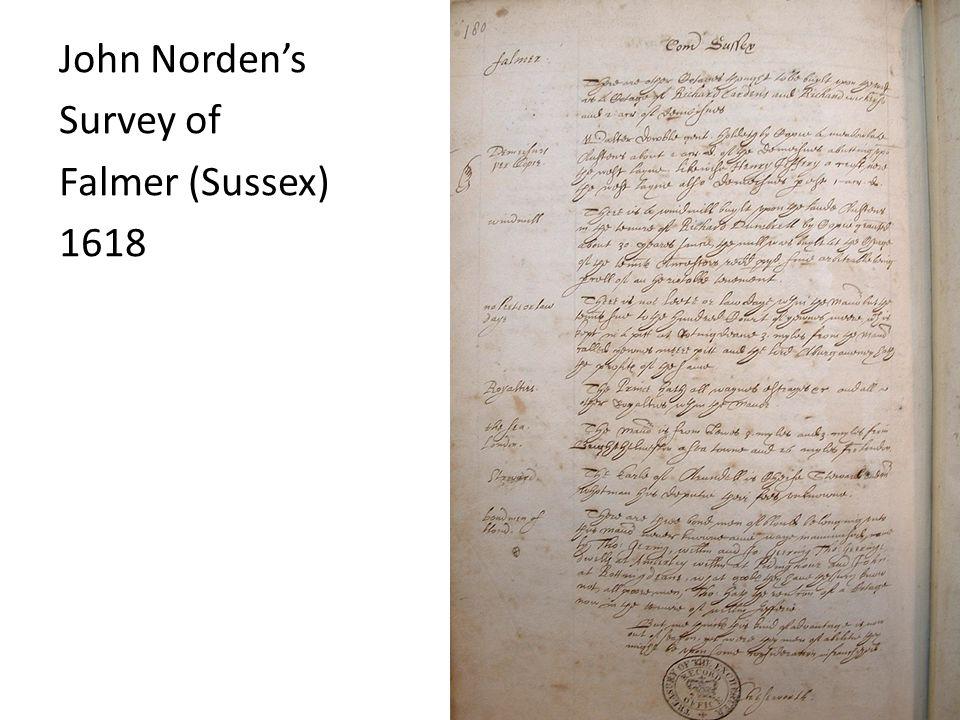 John Norden's Survey of Falmer (Sussex) 1618