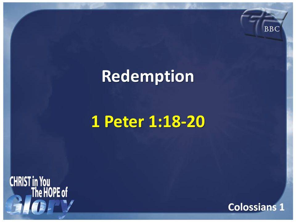 Redemption 1 Peter 1:18-20