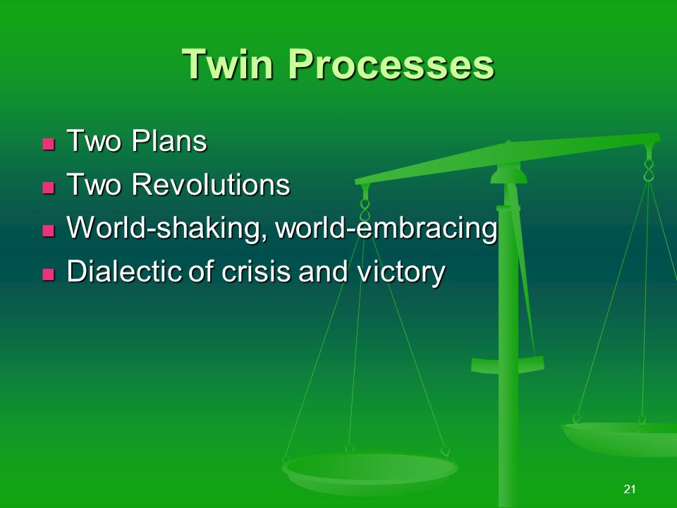 20 Two Great Processes