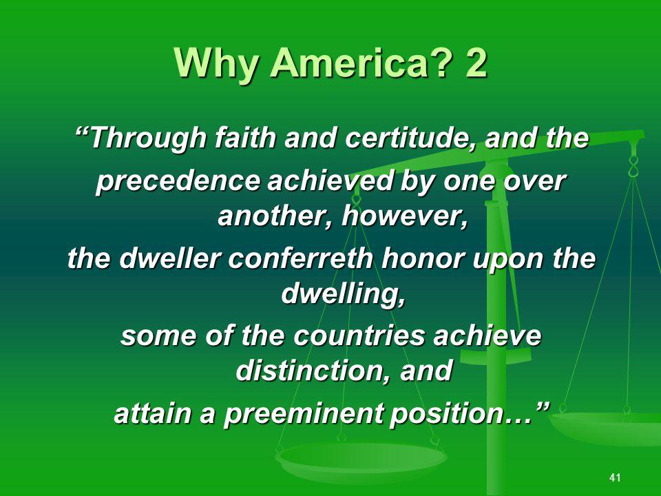 40 Why America.