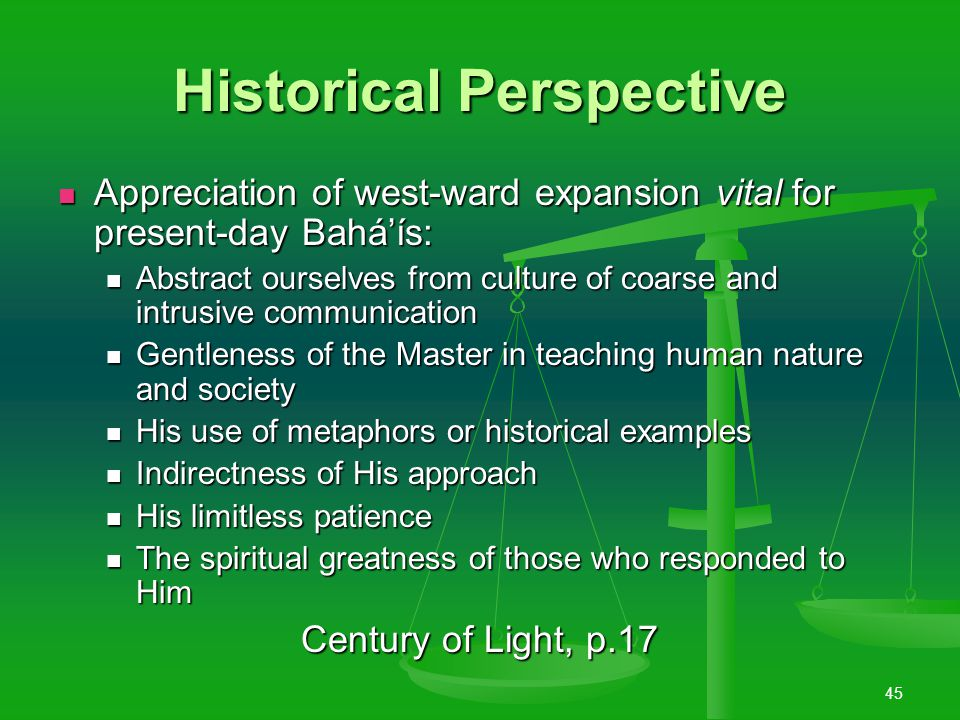 44 The North American Bahá'í Community A matchless and brilliant record of service A matchless and brilliant record of service Cradle and stronghold of the New World Order Cradle and stronghold of the New World Order