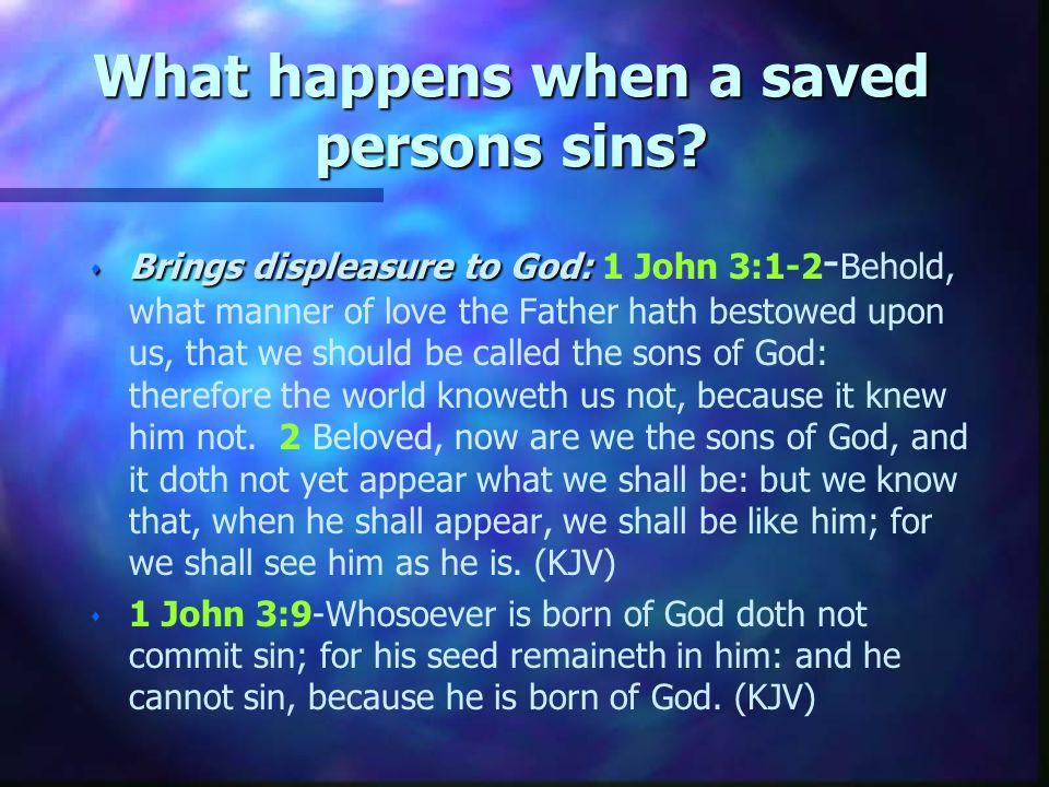 What is the assurance one is saved forever.