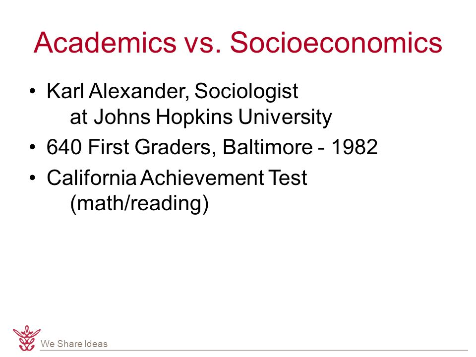 We Share Ideas Academics vs.