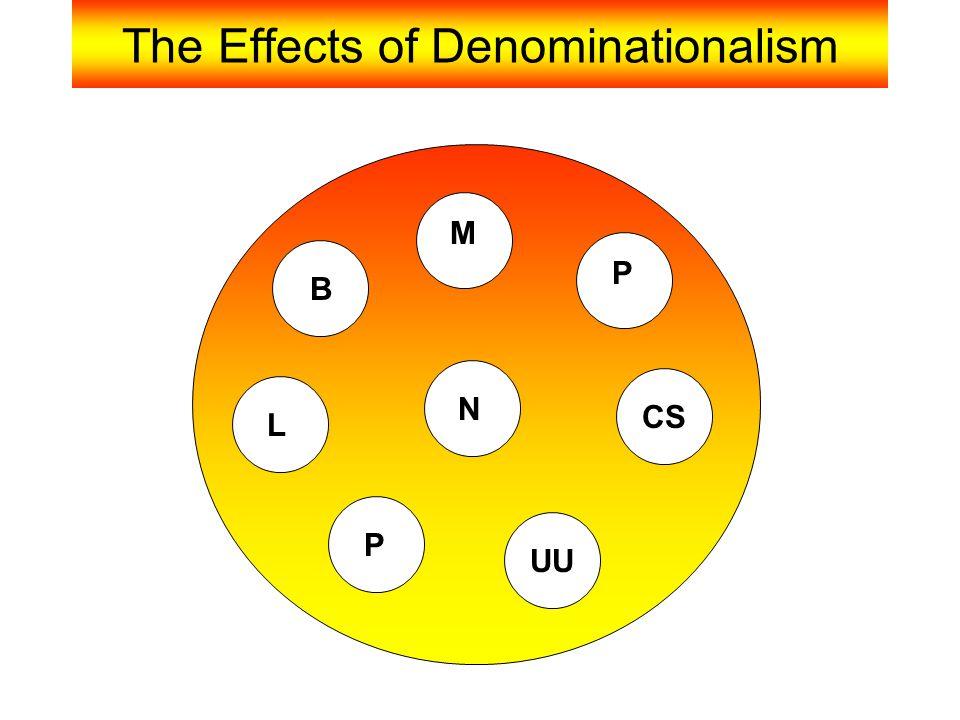 The Effects of Denominationalism B M P L N CS P UU