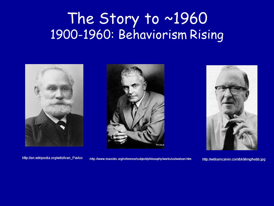 The Story to ~1960 1600-1900: Empiricists vs.