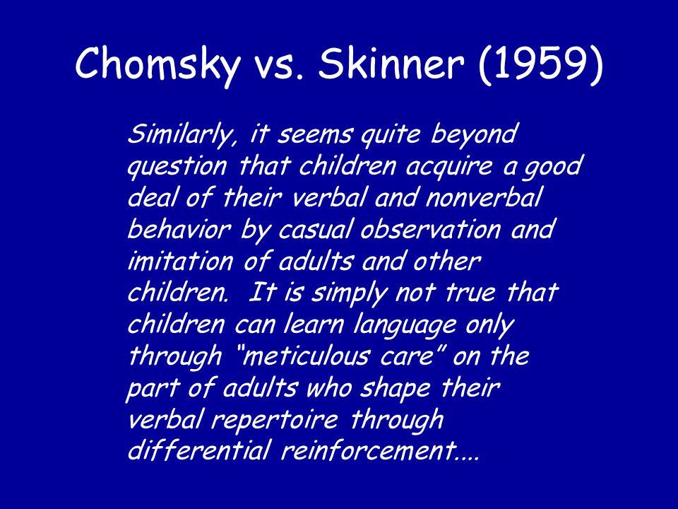 Chomsky vs.