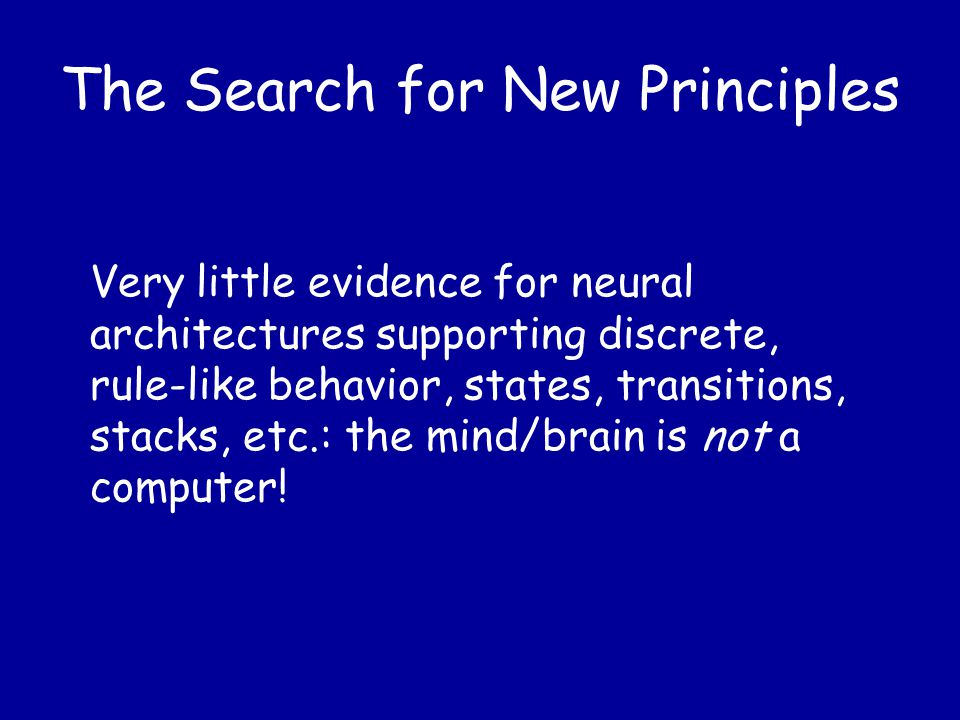 The Search for New Principles If we want to imitate human memory with models, we must take account of the weaknesses of the nervous system as well as its powers.