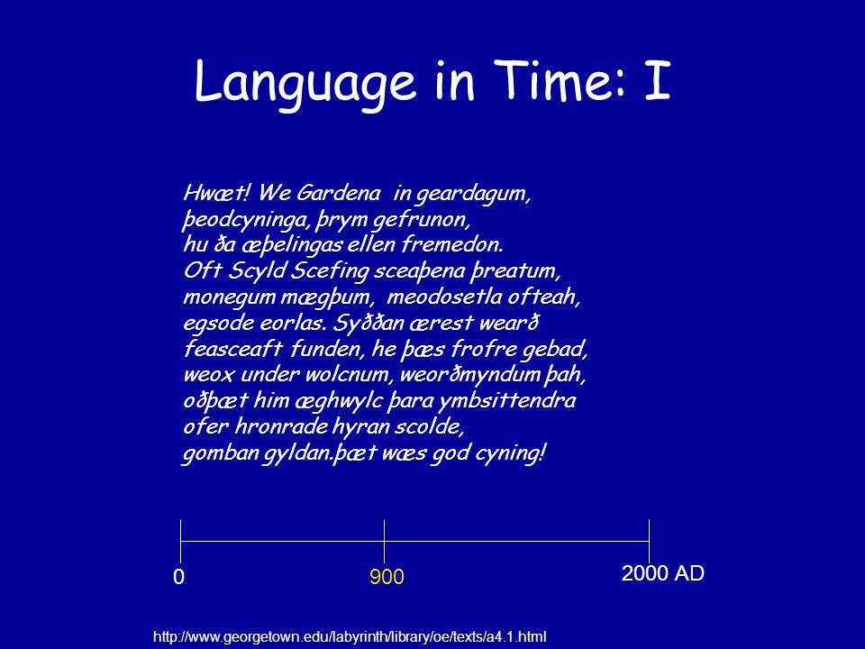 Language in Space: II http://www.fmrib.ox.ac.uk