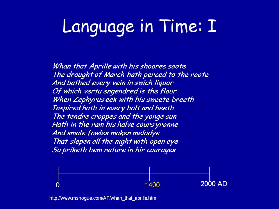 Language in Time: I Hwæt.