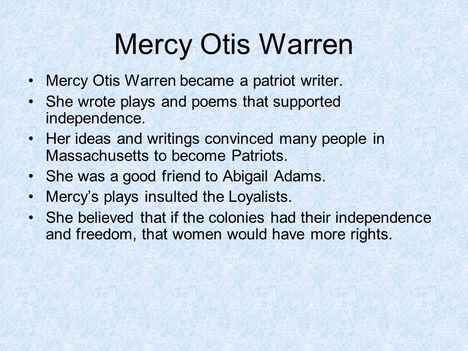 """Mercy Otis Warren """"Our situation is truly delicate & critical. On the one hand we are in need of a strong federal government founded on principles tha"""
