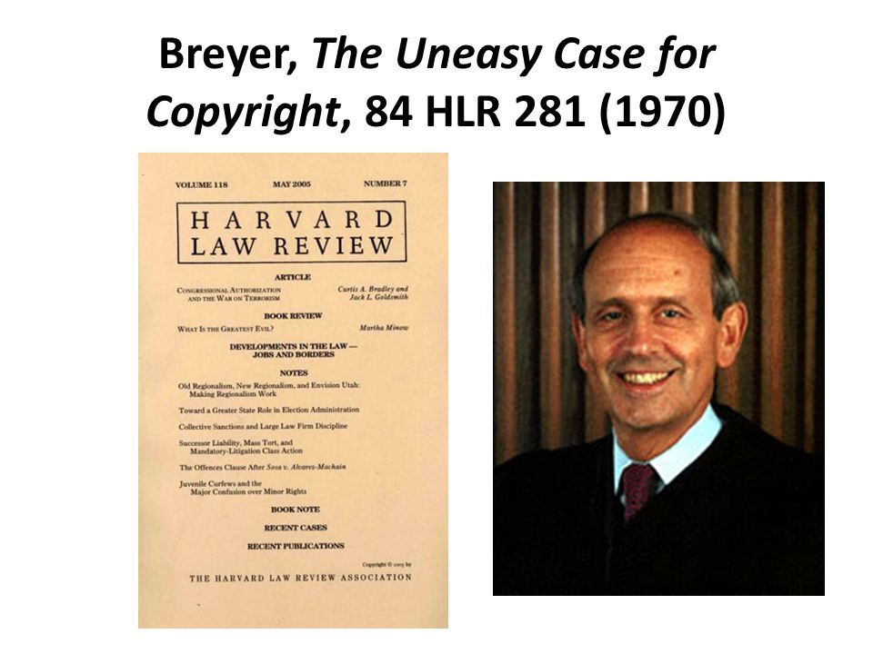 Breyer, The Uneasy Case for Copyright, 84 HLR 281 (1970)