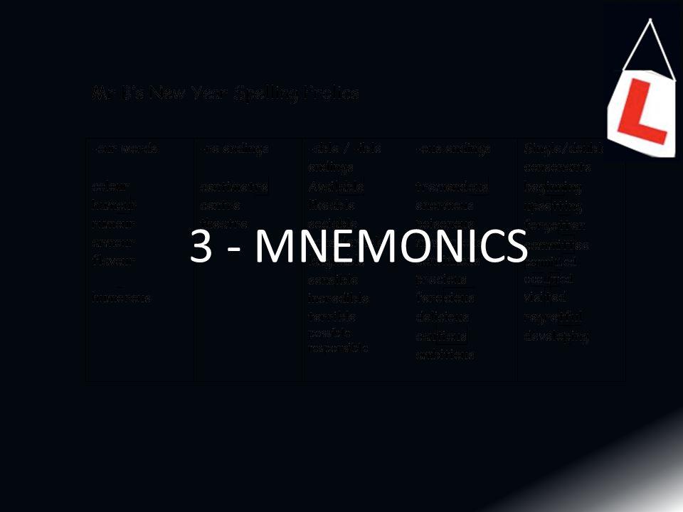 3 - MNEMONICS