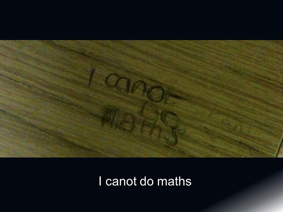 I canot do maths