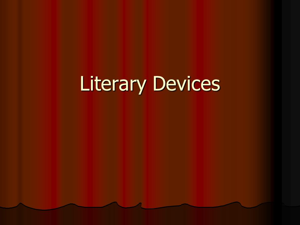 Literary Devices