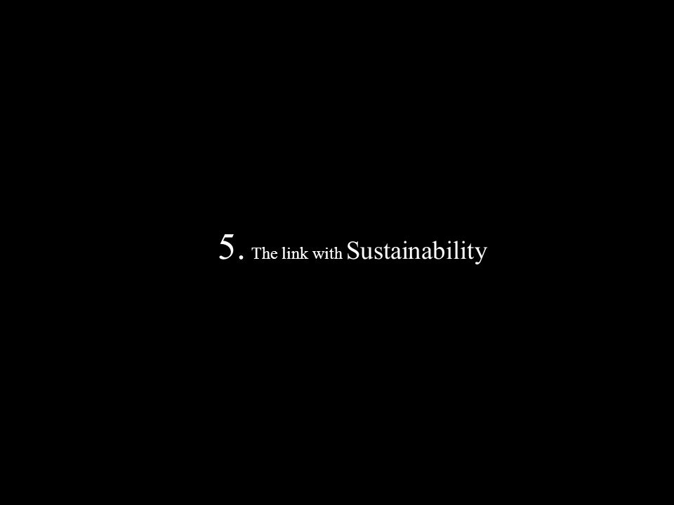 5. The link with Sustainability