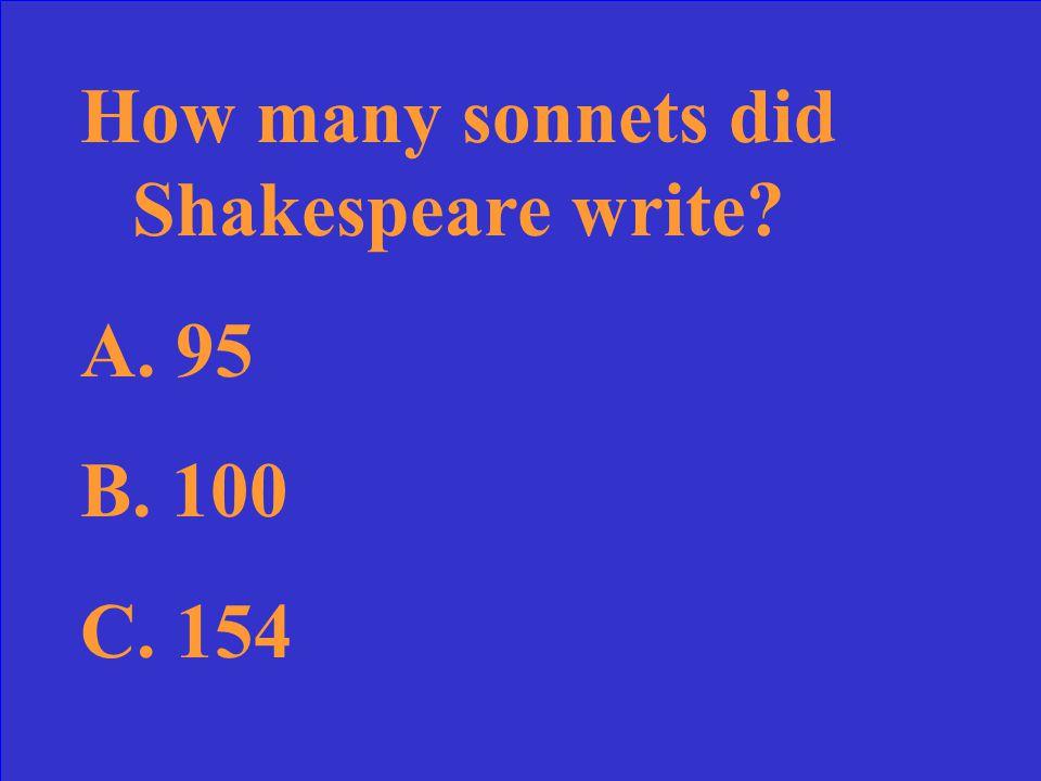Spenser's Sonnets Sonnet 29 The Renaissance 10 Point 20 Points 30 Points 40 Points 50 Points 10 Point 20 Points 30 Points 40 Points 50 Points 30 Points 40 Points 50 Points Sonnet 18 Sonnet On It