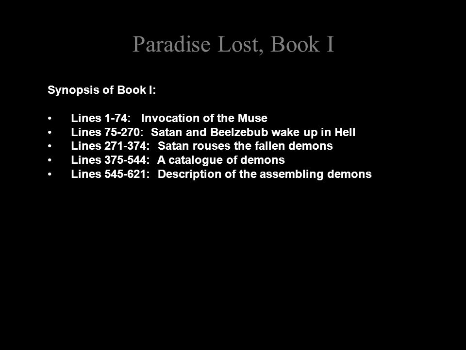 Paradise Lost, Book I Notice how this famous passage echoes the familiar rhetoric of democracy and human freedom: What matter where, if I be still the same, And what I should be, all but less then hee Whom Thunder hath made greater.