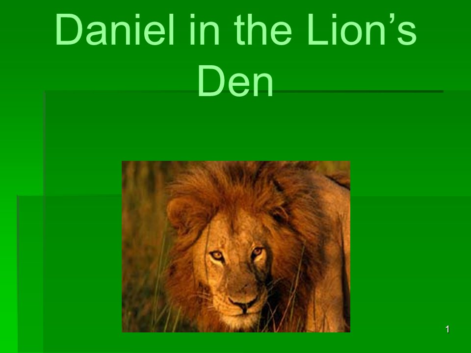 12 Daniel in the Den, And Darius in Distress Then the king commanded, and they brought Daniel, and cast him into the den of lions.