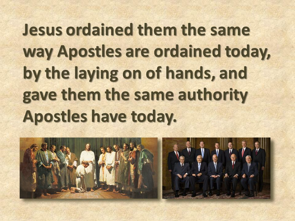 Who Who are the Apostles on the earth today.Boyd K.