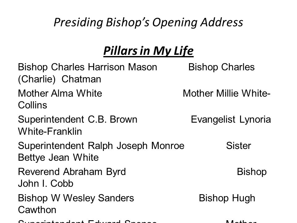 Order of Progression In Ministry (From one level to the next level) Crown (Founding & Executive Board of Bishops) Elevation Upon Recommendation of the Crown Assistant Presiding Bishop Elevation & Appointment by the International Presiding Bishop