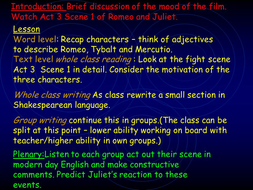 Introduction: Brief discussion of the mood of the film.