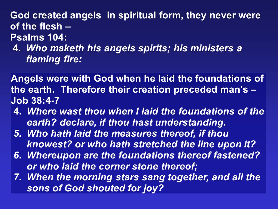 The Spiritual Nature of Angels Misconception - According to Genesis 6:2, angels took the daughters of men for wives.