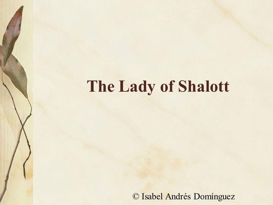 The Lady of Shalott © Isabel Andrés Domínguez