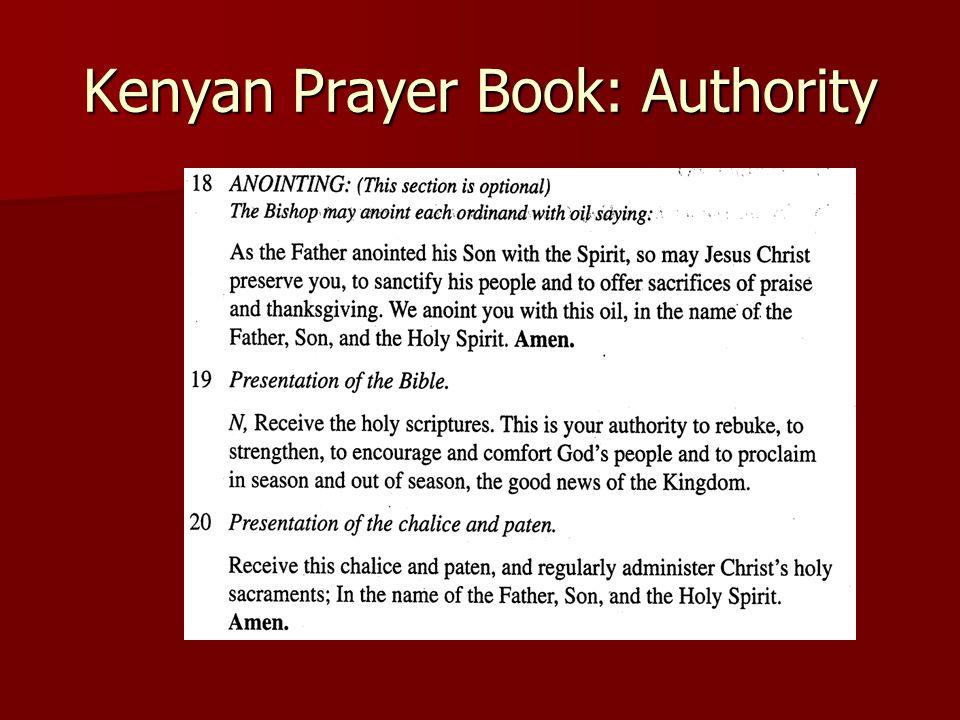 Kenyan Prayer Book: Authority