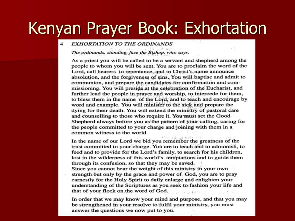 Kenyan Prayer Book: Exhortation