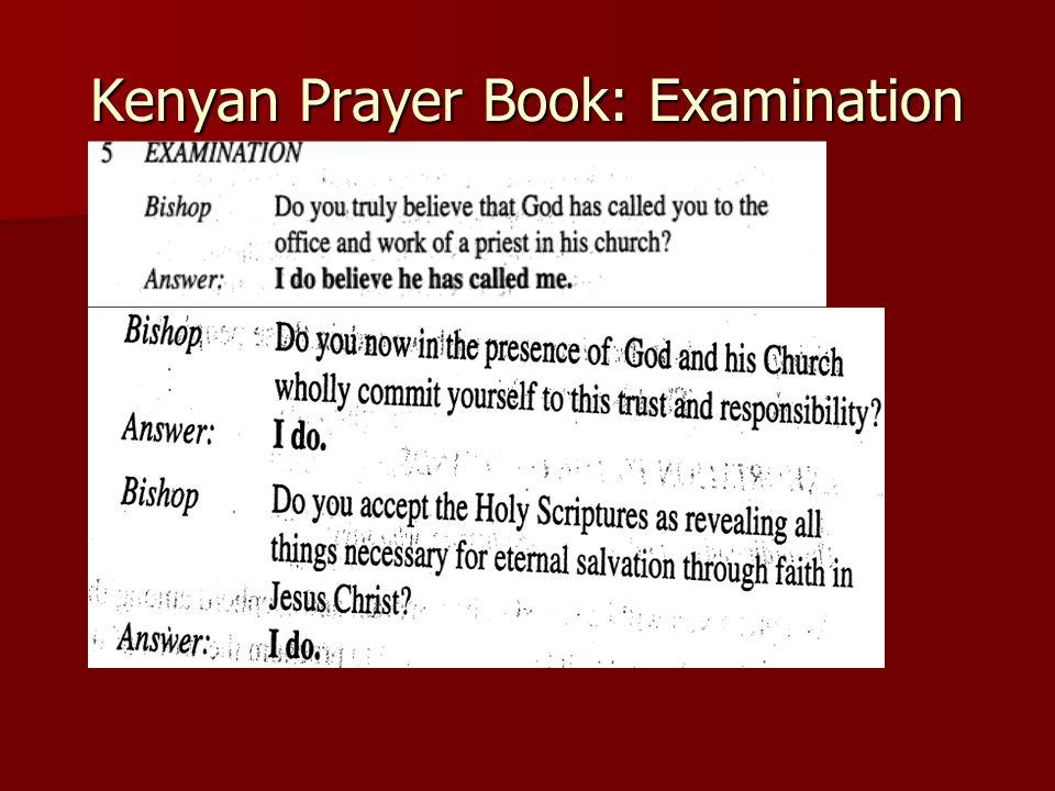 Kenyan Prayer Book: Examination