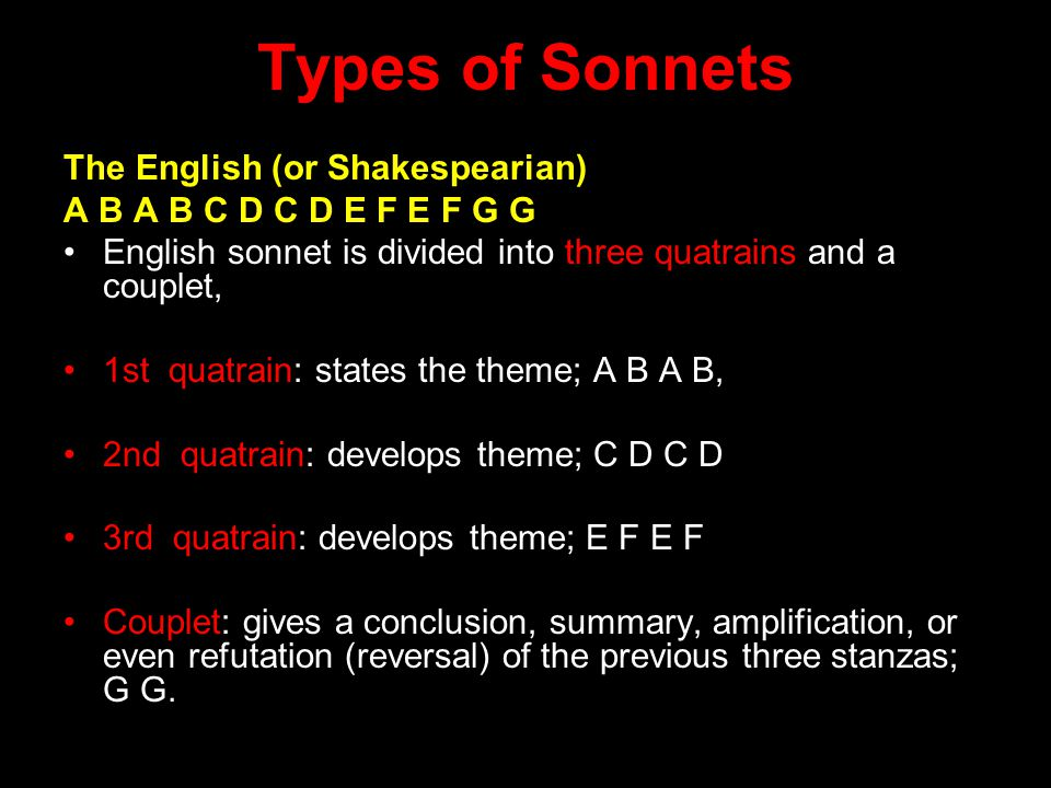 Shakespearean Sonnet 18: Pattern of rhyme scheme and meter Also, pattern of message Where is the turn in the message.