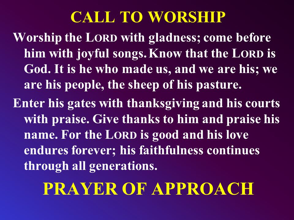 729 We have come into His house and gathered In His name to worship Him We have come into His house and gathered In His name to worship Him We have come into His house and gathered In His name to worship Christ the Lord Worship Him, Christ, the Lord