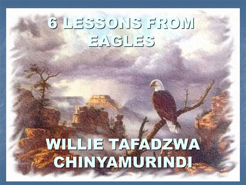 KEY TEXT GOD WANTS US TO RISE WE RISE LIKE EAGLES HENCE NEED FOR STUDY