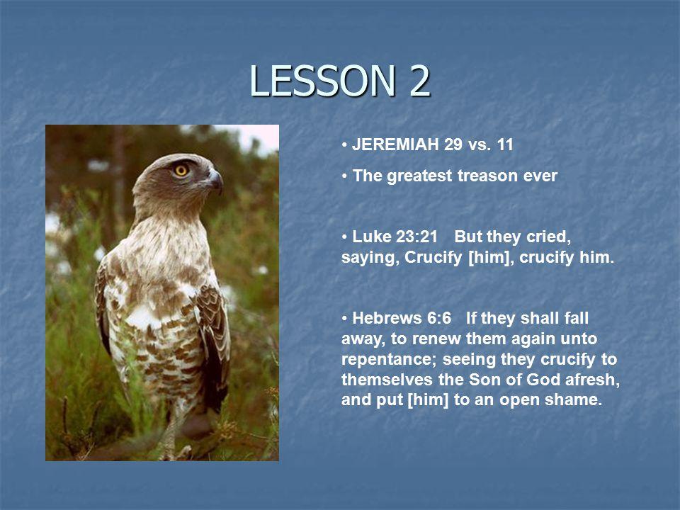 LESSON 2 JEREMIAH 29 vs.