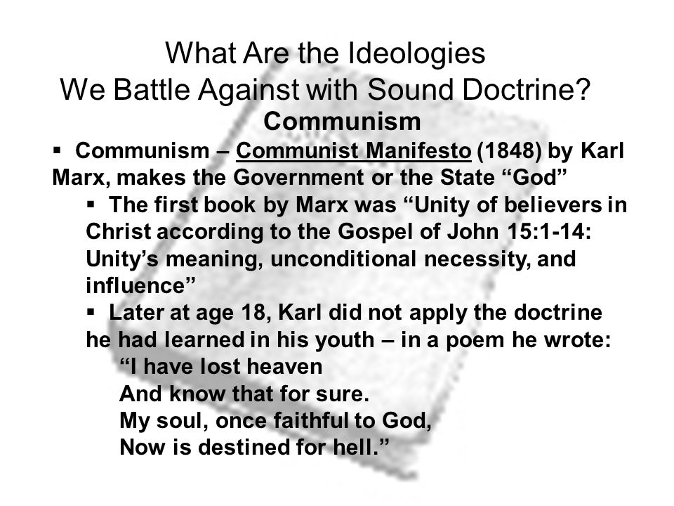 What Are the Ideologies We Battle Against with Sound Doctrine.