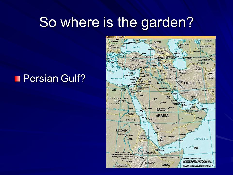 So where is the garden Persian Gulf