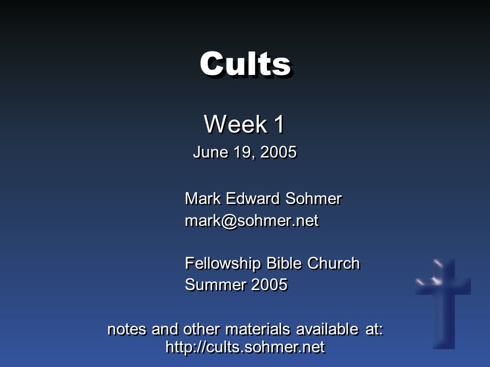 What Is a Cult.